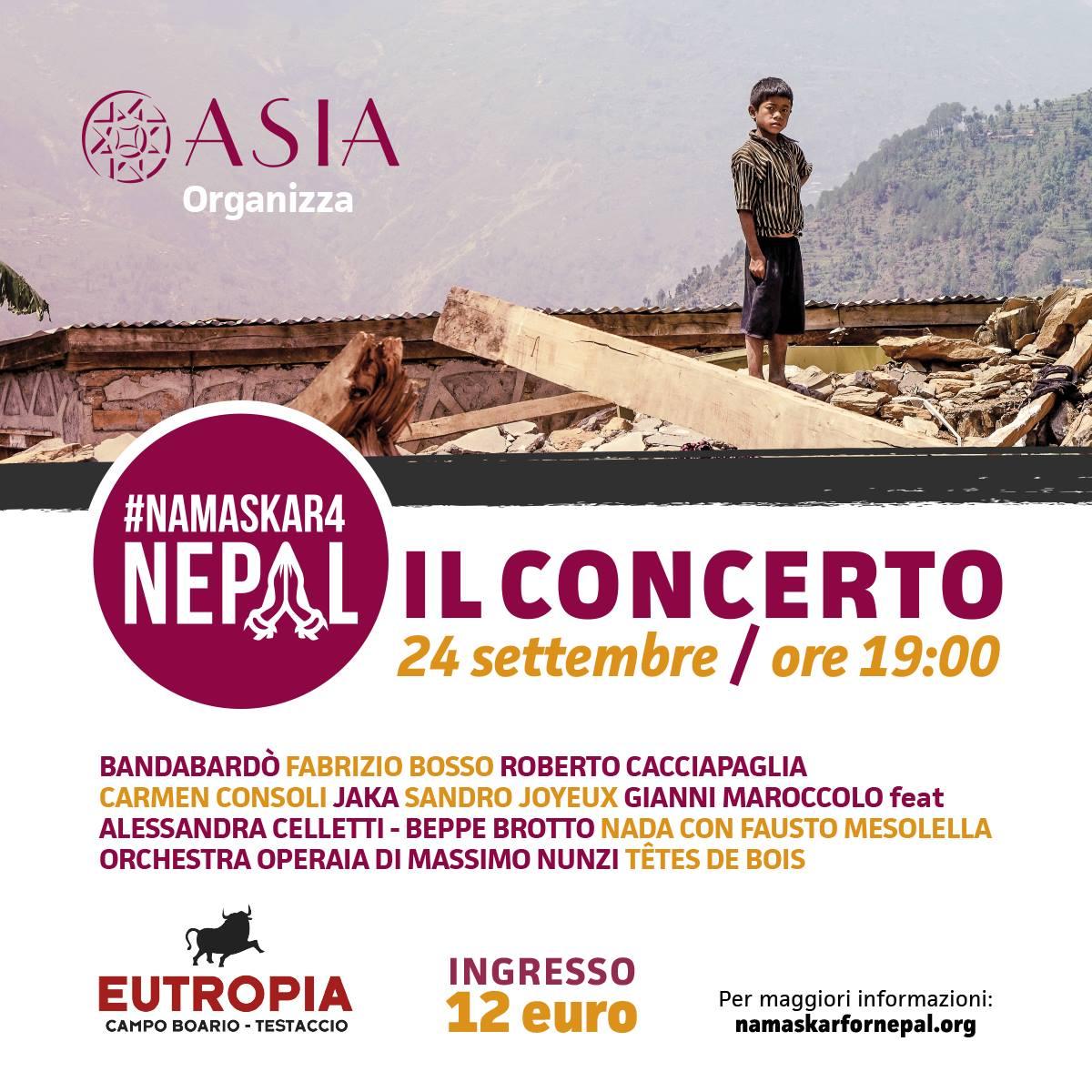 ROMA 24 Settembre Eutropia.. ASIA onlus for Nepal- Operaia featuring Fabrizio Bosso